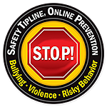 Safety Tipline, Online Protection. Stop Sign image link.